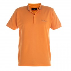 Polo Pierre Cardin Col Mao Orange