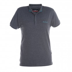 Polo Pierre Cardin Col Mao Chiné Anthracite