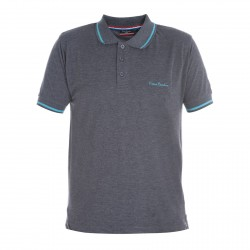 Polo Pierre Cardin Chiné Anthracite Col Liseret Bl