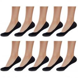 Lot de 10 paires de protège pied femme mousse noir