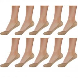 Lot de 10 paires de protège pied femme mousse beige