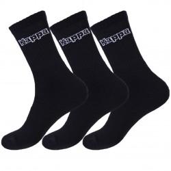 Lot de 3 paires de chaussettes coton homme Kappa Noir