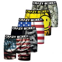 Lot de 5 boxers CRAZY BOXER