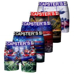 Boxer Capster Garçon Multicolors Lot x 5
