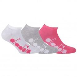 Lot de 3 Paires de Chaussettes Socquettes Diadora D1225 femme assorties