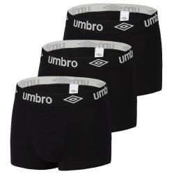 Lot de 3 Boxers coton uni homme