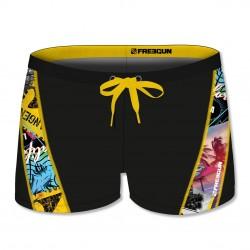 Boxer de Bain garçon avec empiècement oblique Surf
