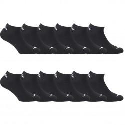 Lot de 12 paires chaussettes tiges courtes Homme Diadora Noires
