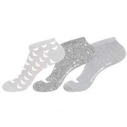 Lot de 3 Paires de Chaussettes Socquettes femme imprimées