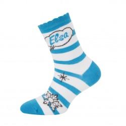 Paire de chaussettes fantaisies rayées fille Frozen Elsa