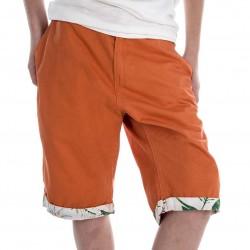 Short bermudas Orange et Blanc